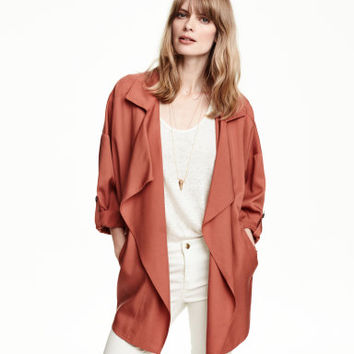 H&M Wide-cut Coat in Lyocell $49.95