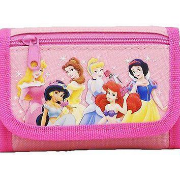 Disney 6 Princesses Pink Trifold Wallet