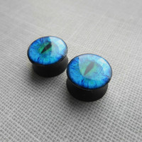 SALE gauges Dragon eye image ear plugs 4,5,6,8,10,12,14,16,18,20,22,24,26,28-60mm;6g,4g,2g,0g,00g;1/4,5/16,3/8,1/2,9/16,5/8,3/4,7/8,1 1/4,1""