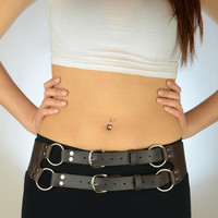 "SALE The Privateer Ladies Belt waist size 33"" to 39"" in black"