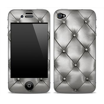 Silver Cushion iPhone Skin