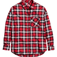 H&M - Plaid Shirt - Red - Ladies