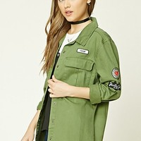 Patch Graphic Cargo Jacket