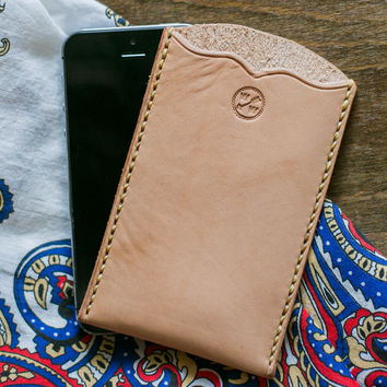 Leather iPhone 5 Sleeve