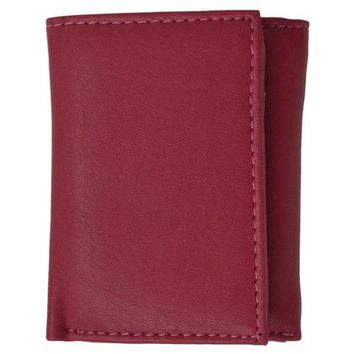 Young Teen Trifold Leather Wallet Multiple Colors Available