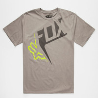Fox Outcome Mens T-Shirt Dark Grey  In Sizes