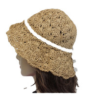 Straw easy fold women's sun hats