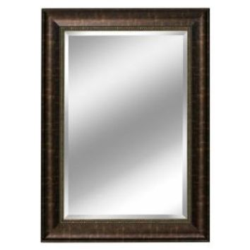 Deco Mirror 31 in. x 37 in. Embossed Distressed Mirror in Bronze 2079 at The Home Depot - Mobile