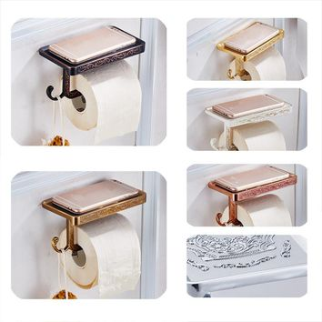 Retro Paper Towel Holder Continental Carved Suite Bathroom Accessories Toilet Roll Holder