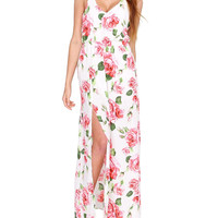 Bloom Roses Maxi Dress - Floral Print