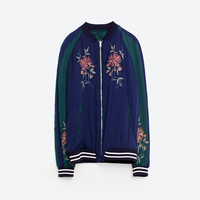 EMBROIDERED REVERSIBLE BOMBER JACKET DETAILS