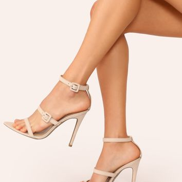 Pointy Sole Open Toe Buckled Ankle Heeled Sandals