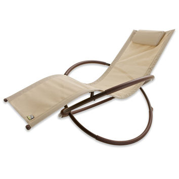 RST Brands Orbital Zero Gravity Patio Lounger Rocking Chair   Overstock.com Shopping - The Best Deals on Chaise Lounges