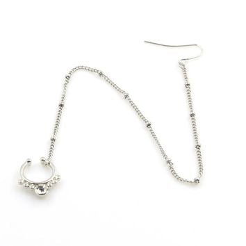 Voguish Crystal Nose Ear Ring Chain for Women by Ritzy