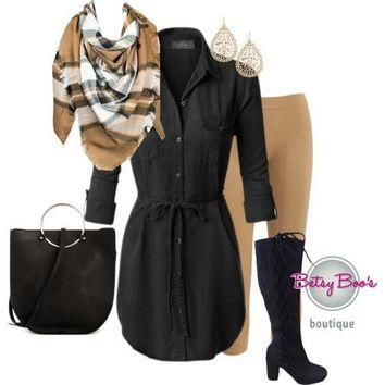 (pre-order) Set 818: Black Shirt Dress Tunic (bag and shoes sold separately)