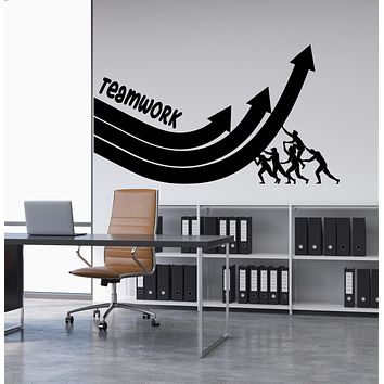 Vinyl Wall Decal Teamwork Motivation Word Office Decoration Stickers (2952ig)
