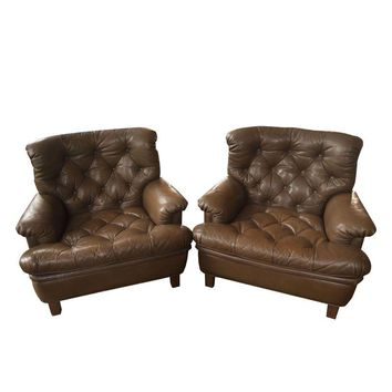 Pre-owned Vintage Arne Norell Club Chairs