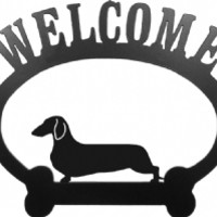 Welcome Dachshund Smooth Metal Sign