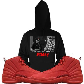Jordan Retro 12 Gym Red Sneaker Hoodies - FRIDAY