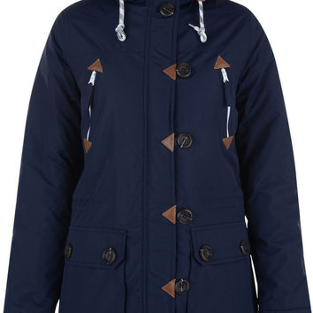 Bellfield Frolovo Fur Trim Hooded Parka Jacket
