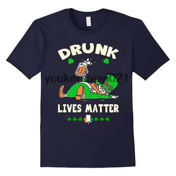 Drunk Lives Matter Irish T-Shirt - St Patricks Day Beer Tee