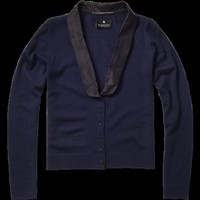 Tuxedo style cardigan - Knits - Scotch & Soda Online Shop