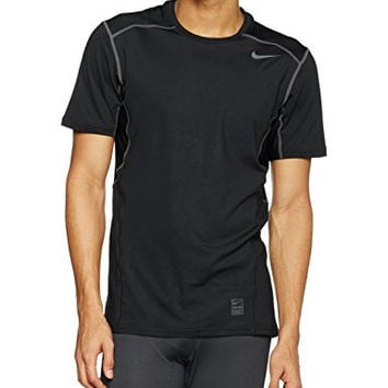 Men's Nike Pro Hypercool Top Short-Sleeve Shirt Black/Dark Grey Size Medium