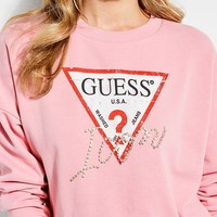 Icon Logo Cropped Sweater at Guess