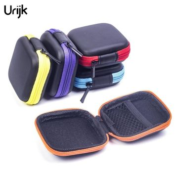 Urijk EVA Earphone Wire Organizer Box (Without Earphone) Data Line Cables Storage Accessories Case Container Organizer Coin Box