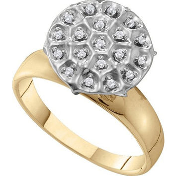 Diamond Fanuk Ring in 10k Gold 0.1 ctw