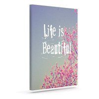 "Rachel Burbee ""Life is Beautiful"" Outdoor Canvas Wall Art"