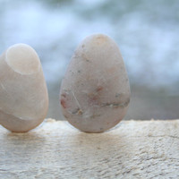 Sea Stone Pendants Beach Stone Pendants Jewelry Supplies Light Grey