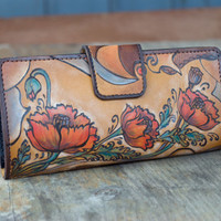 "Handmade Wallet ""Poppy"" 