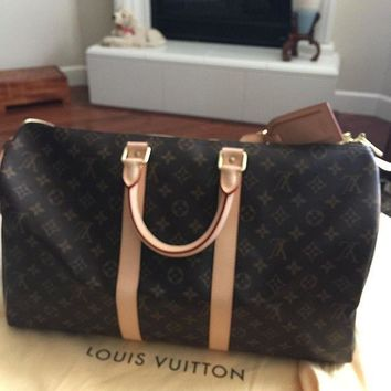 CREYDC0 Louis Vuitton Monogram Canvas Keepall 45