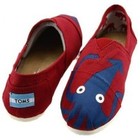 Classics Octopus Red Toms Women Shoes Outlet Online Sale.
