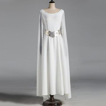 Princess Leia Costume Adult Star Wars Halloween Fancy Dress Costume Cosplay Free Shipping