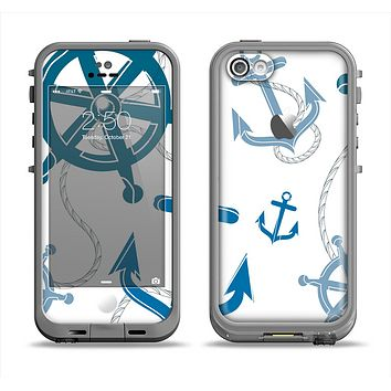The Nautical Anchor Collage Apple iPhone 5c LifeProof Fre Case Skin Set