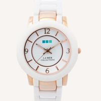 White Rose Gold Indo Lucite Watch