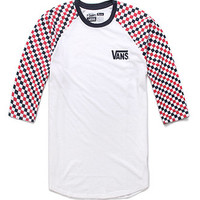 Vans Checker 3/4 Raglan Tee at PacSun.com