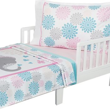 Springtime Elephants - Toddler Bedding Set