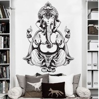 Ganesh Buddha Elephant Om Wall Decal