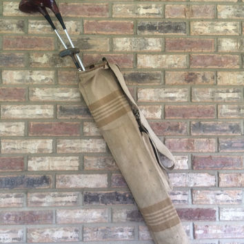 Vintage Golf Bag Golf Clubs Canvas Golf Bag
