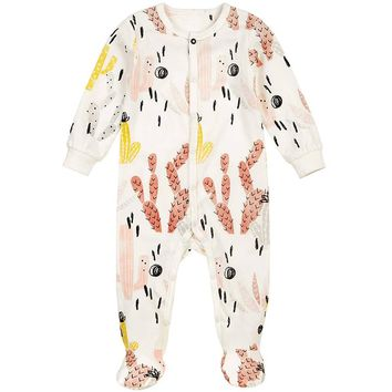 Baby Clothes Tiny Cottons Newborn Girl Romper Funny Coloful Cactus Printed Toddler Jumpsuit Rompers Boy Clothing Onesuit Costume