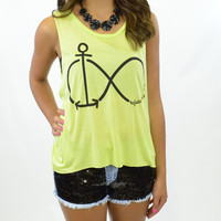 Beyond Infinity Anchor Never Sink Top Neon Yellow