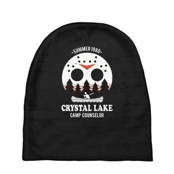 crystal lake camp counselor Baby Beanies