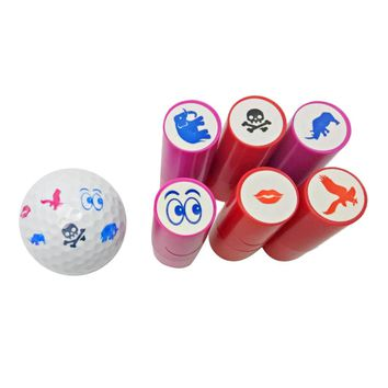 Colorfast Quick-dry Golf Ball Stamp Stamper Marker Impression Seal Gift