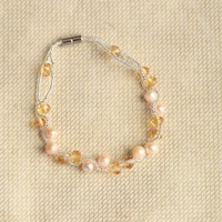 tegan pearl bracelet in amber at ShopRuche.com