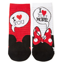 Minnie and Mickey Crew Socks