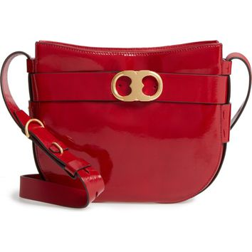 Tory Burch Gemini Link Patent Leather Crossbody Bag | Nordstrom