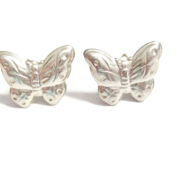Tiny Sterling Butterfly Earrings